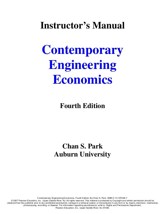 Instructor's Manual                                    Contemporary                                     Engineering       ...