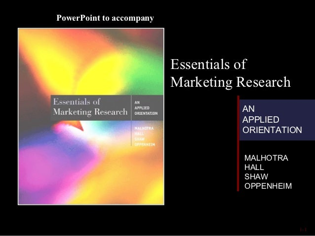 PowerPoint to accompany                          Essentials of                          Marketing Research                ...