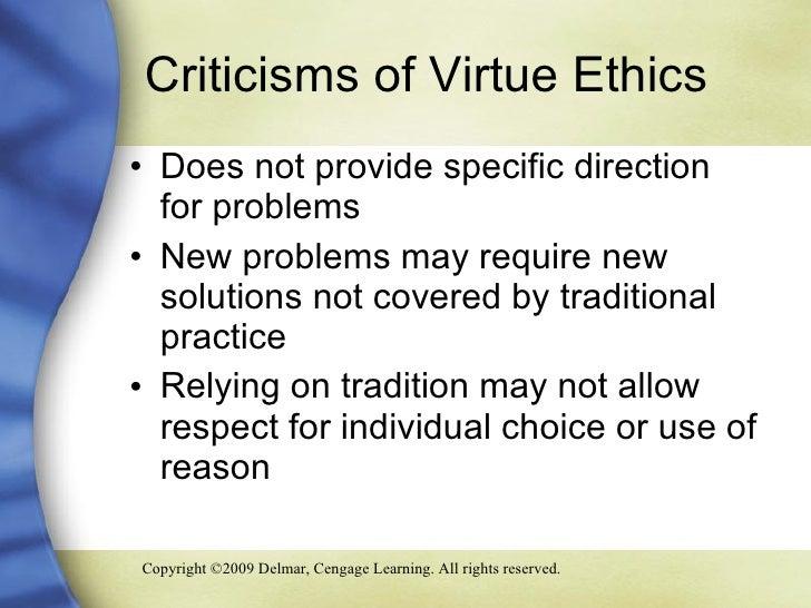 Virtue ethics criticsm essay