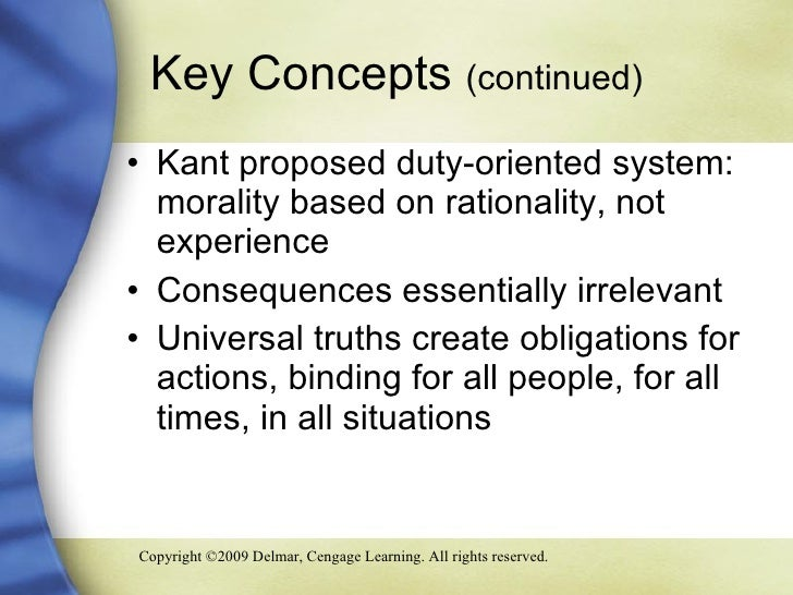 an overview of emmanuel kants ethical system for reasoning Immanuel kant deontology: duty-based ethics one of the first major challenges to kant's reasoning came from the swiss philosopher benjamin constant.