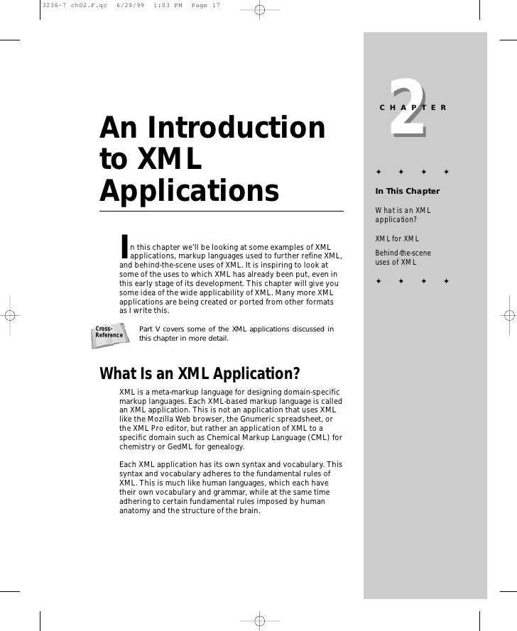 2                                                                           CHAPTER    An Introduction  to XML            ...