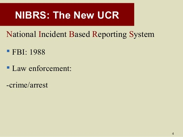 ucr nibrs and the ncvs And counties) but the ucr data are limited in important respects the data are disseminated in tabular form and are limited to crimes reported to and recorded by the police the national crime victimization survey (ncvs), developed in the 1970s, includes criminal victimizations not reported to the police, and the nibrs.