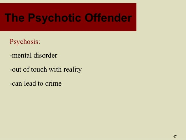 psychobiological theory of crime 2 constitutional theories do criminals look different to everyone else sheldon  believed that criminals have a specific body shape or physique that.