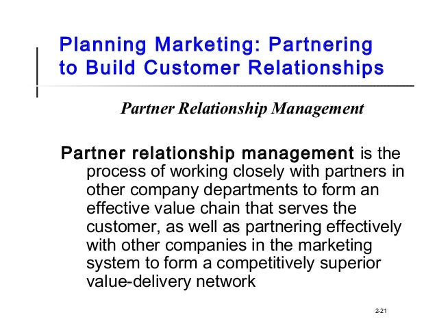 company and marketing strategy partnering to build customer relationship