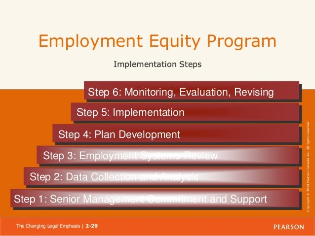 employment equity programs Senior human resources advisor – staffing, employment equity and other internal programs  salary: $  employment equity,.