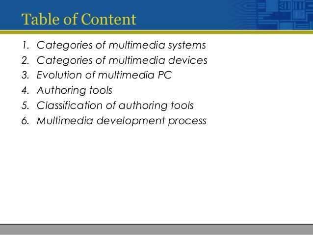 The important things of multimedia system