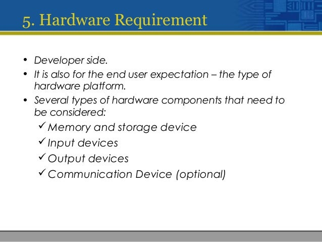 Chapter Multimedia Systems Hardware And Software - Hardware and software requirements