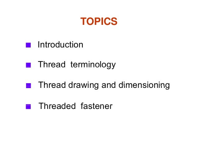 Chapter 02 thread fastener Slide 2