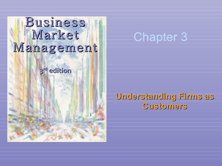Business Market Management 3 rd  edition Understanding Firms as Customers Chapter 3