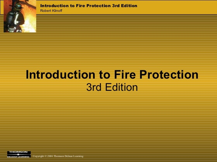 Introduction to Fire Protection 3rd Edition