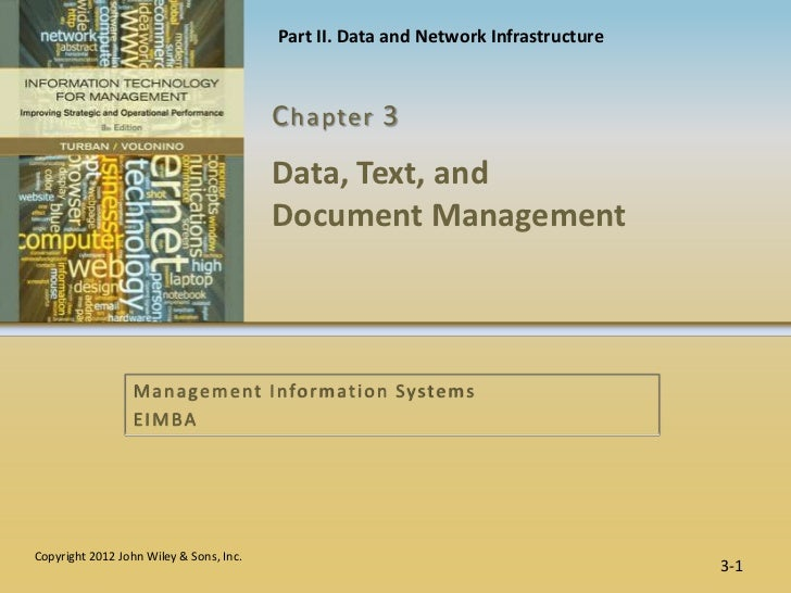 Part II. Data and Network Infrastructure                                         C hapter 3                               ...