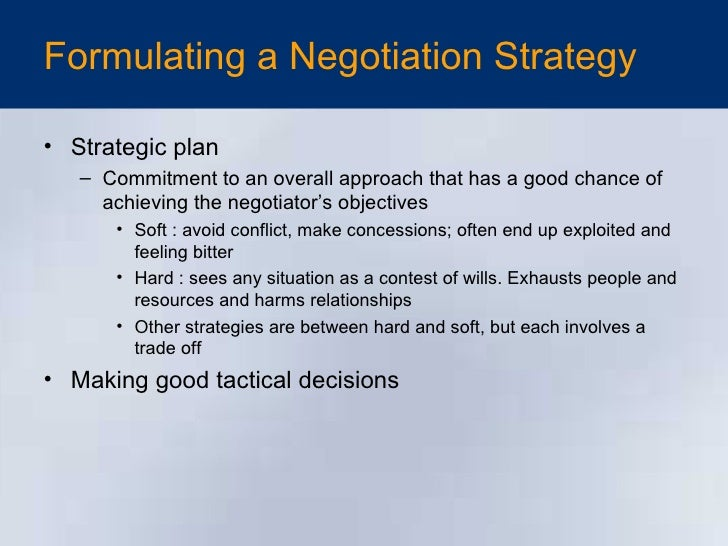 Negotiation strategy planning