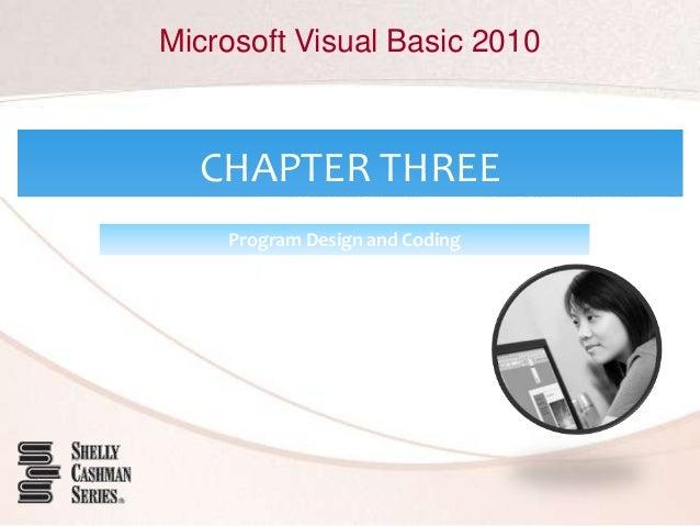 Microsoft Visual Basic 2010 CHAPTER THREE Program Design and Coding