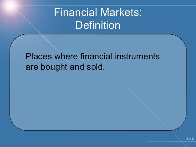 markets and financial instruments The course is aimed mainly at economists who are or may become economic policy advisors, makers, or implementers the emphasis is on the use emerging economies can make of financial markets and instruments and on how they can develop them.