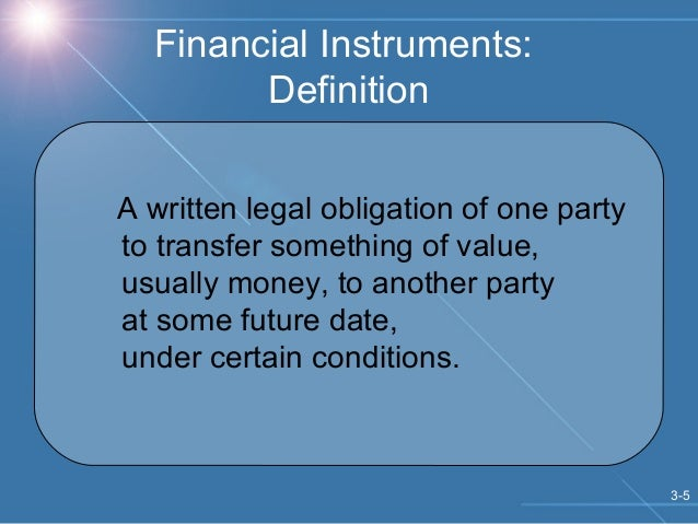 financial markets and financial instruments in