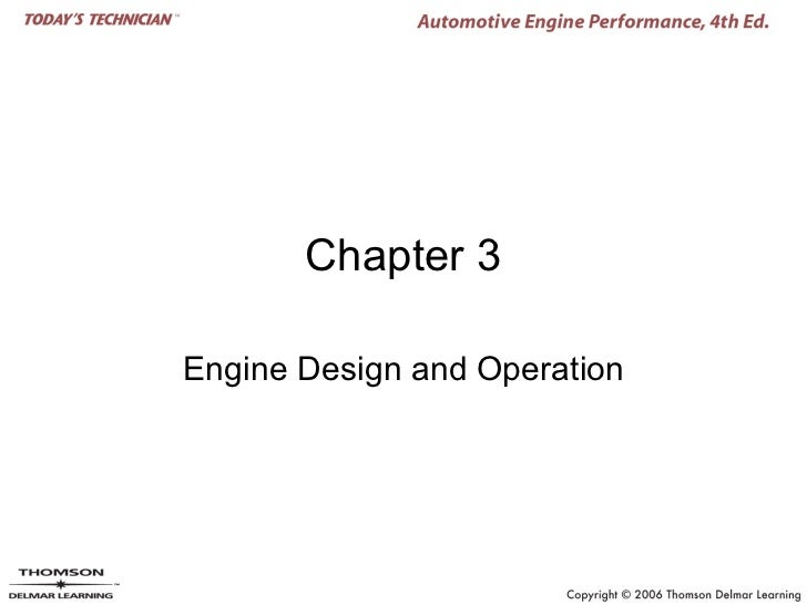 Chapter 3Engine Design and Operation