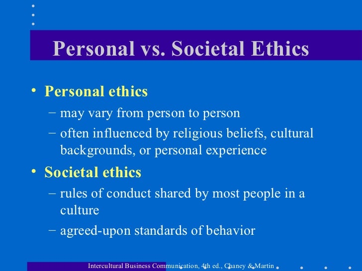 essay on personal values and ethics