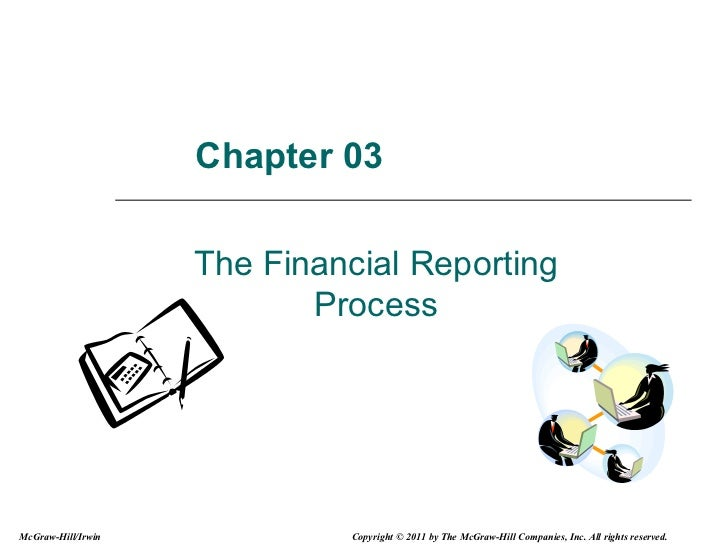 Chapter 03 The Financial Reporting Process McGraw-Hill/Irwin Copyright © 2011 by The McGraw-Hill Companies, Inc. All right...