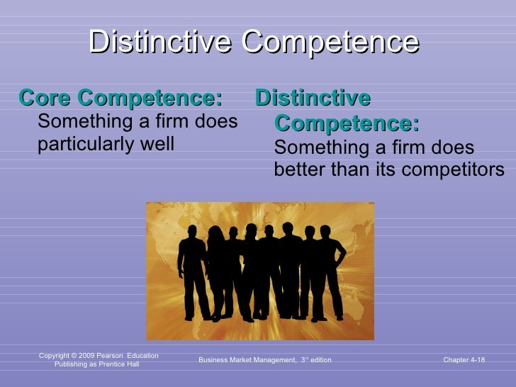 Distinctive Competence <ul><li>Core Competence:   Something a firm does particularly well </li></ul><ul><li>Distinctive Co...
