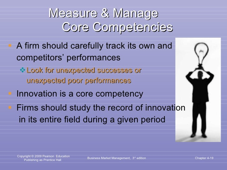 Measure & Manage  Core Competencies <ul><li>A firm should carefully track its own and competitors' performances </li></ul>...