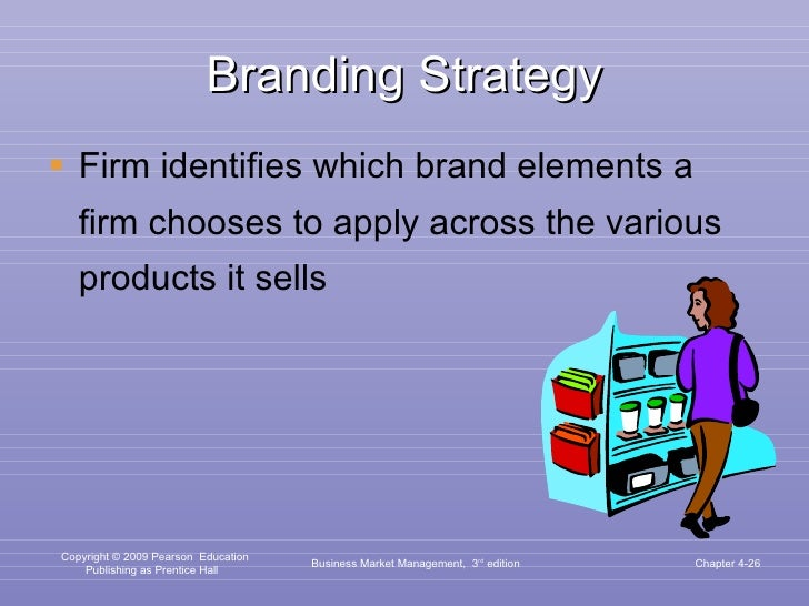 Branding Strategy <ul><li>Firm identifies which brand elements a firm chooses to apply across the various products it sell...