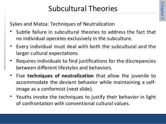 techniques of neutralization One way to do this is by using techniques of neutralization that provide episodic relief from moral constraint and allow criminology.