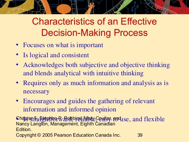 an analysis of the decision making process and the importance of critical thinking