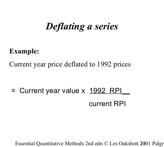 essential quantitative methods les oakshott pdf