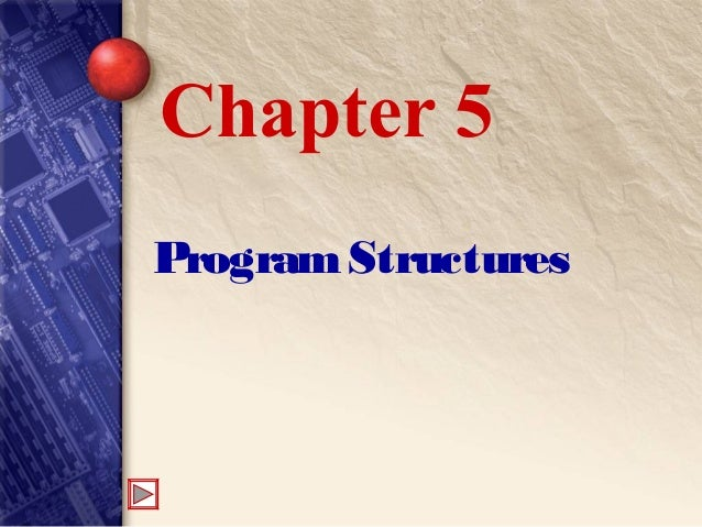 ProgramStructures Chapter 5