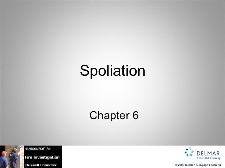 Spoliation   Chapter 6