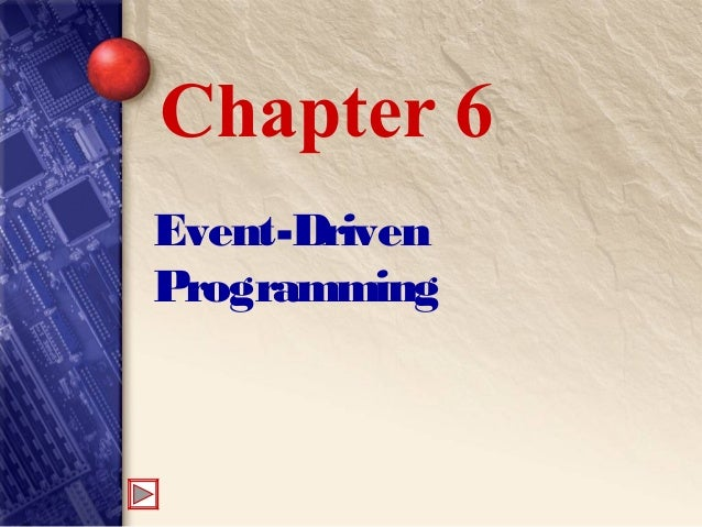 Event-Driven Programming Chapter 6