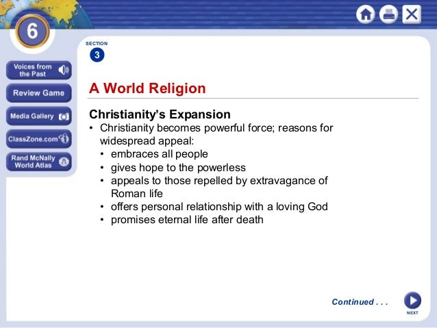 why is christianity widespread