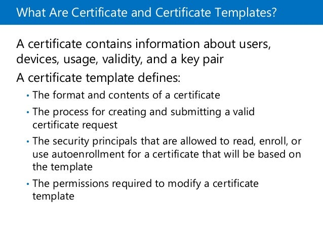 Mcsa 70 412 chapter 06 certificate template 32 yelopaper Gallery