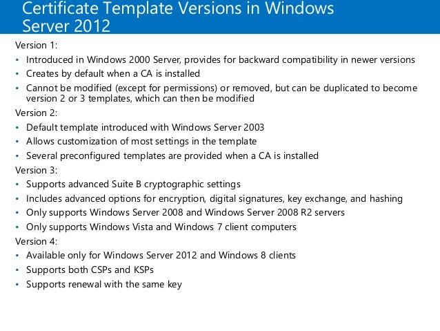 Mcsa 70 412 chapter 06 certificate template versions in windows yadclub Images