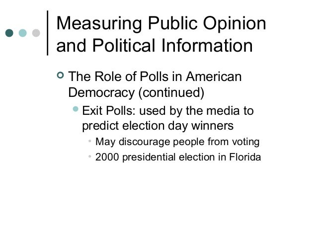 An overview of the american political process and the role of the media in democracy