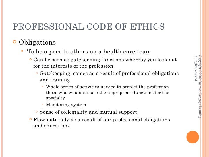 Standards And Codes Of Conduct Practice