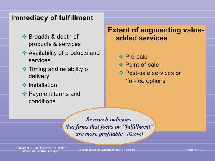 <ul><li>Immediacy of fulfillment </li></ul><ul><ul><li>Breadth & depth of products & services  </li></ul></ul><ul><ul><li>...