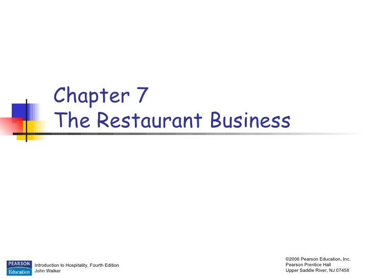 Chapter 7 The Restaurant Business