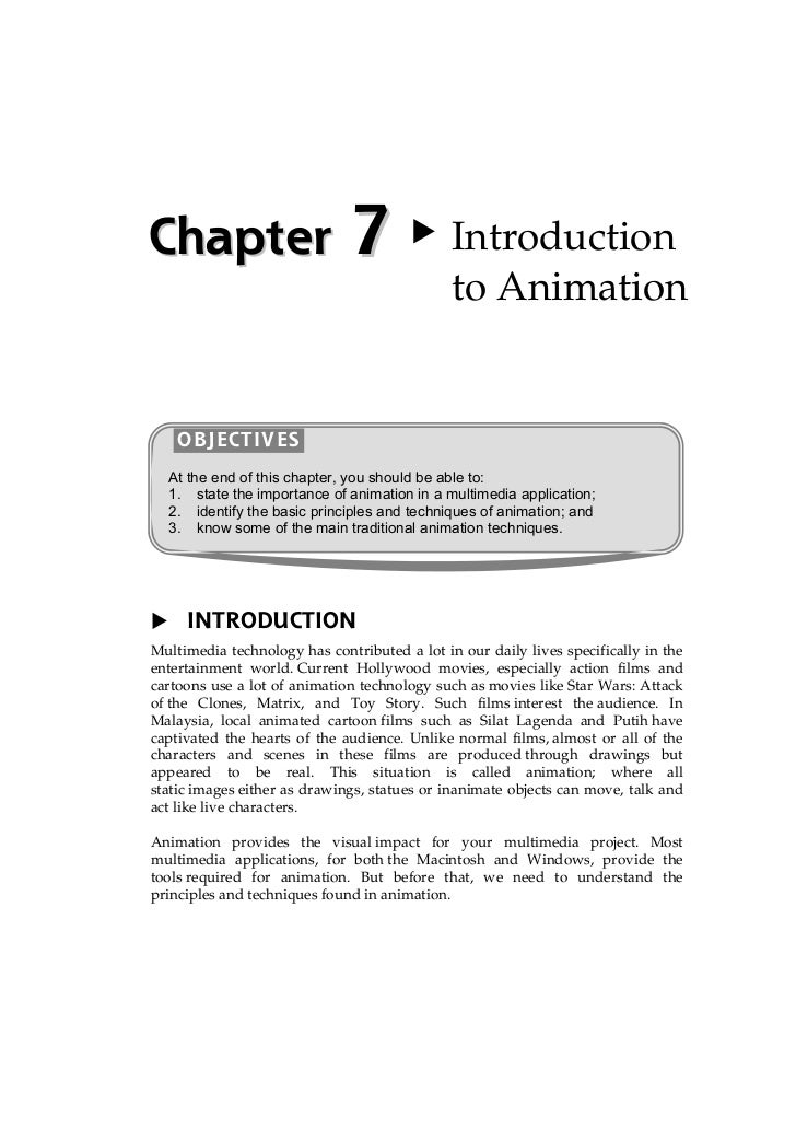 Chapter                       7               Introduction                                              to Animation    OB...
