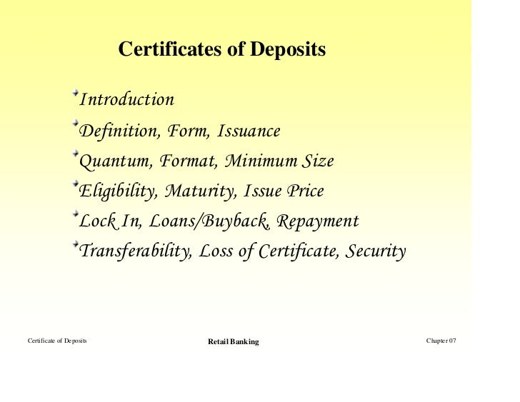 How Does A Negotiable Certificate Of Deposit Work