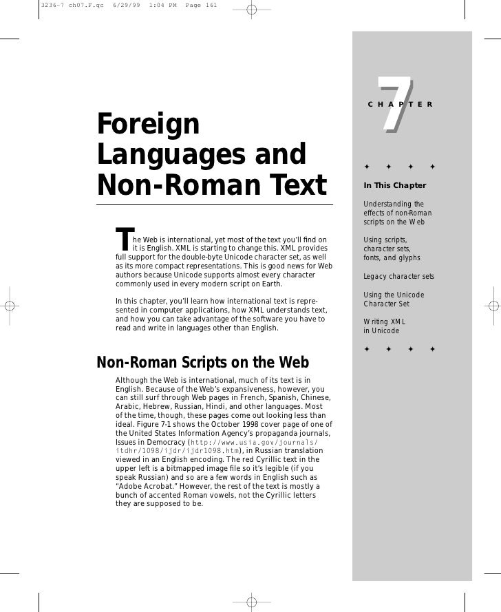 7                                                                        CHAPTER   Foreign Languages and                  ...