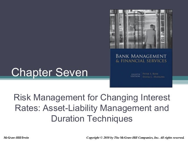 Chapter Seven Risk Management for Changing Interest Rates: Asset-Liability Management and Duration Techniques Copyright © ...