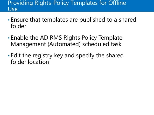 19 providing rights policy templates