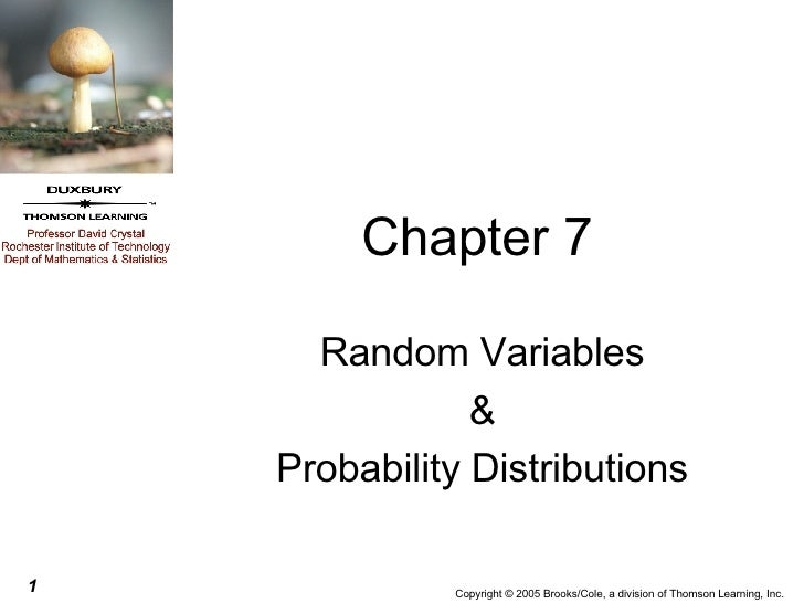 Chapter 7 Random Variables & Probability Distributions