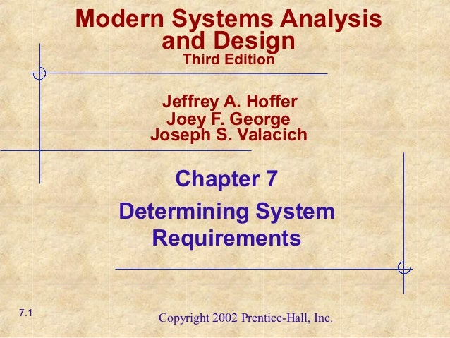 Chapter07 Determining System Requirements