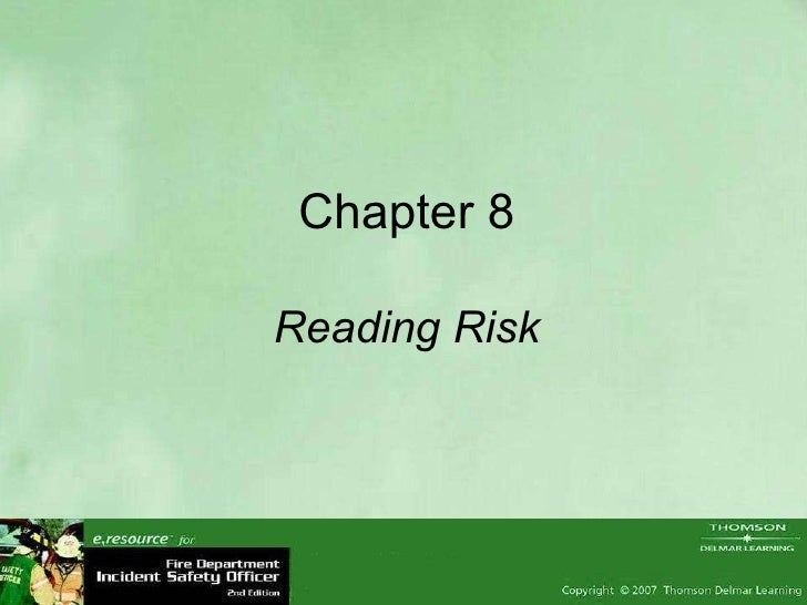 Chapter 8 Reading Risk