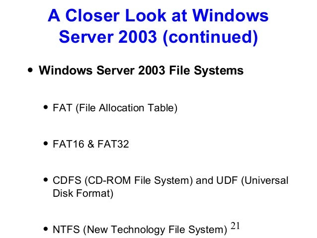 Chapter08 Network Operating Systems And Windows Server
