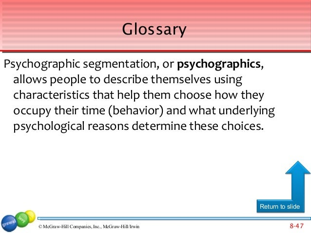 identify the five basic segmentation strategies Identify the appropriate targeting strategy 2  select specific target markets chapter 5 : segmentation, target markets and positioning the selection of a targeting strategy can be affected by target market needs and characteristics product attributes, and the organisation's objectives also influence which targeting strategy is most.