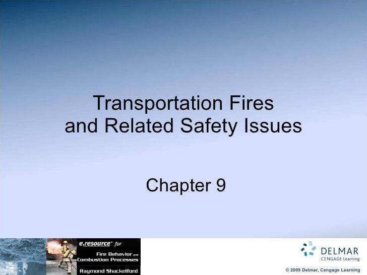 Transportation Fires and Related Safety Issues   Chapter 9