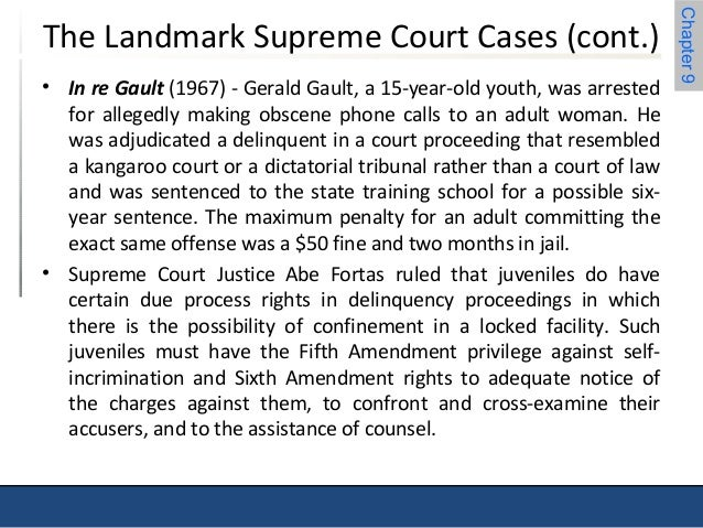 in re gault case A video i did to go along with my 'in re gault' project for government its basically showing what it would be like if minors did not have the right to due.
